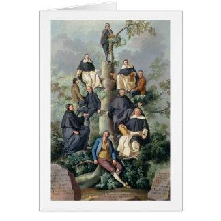 Stamträd av den Sammartin familjen, 1787 Hälsningskort