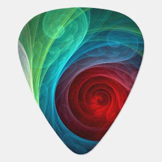 Standard gitarr för röd stormabstraktkonst plektrum