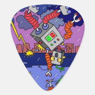 Standard gitarrplocka med den musikaliska roboten plektrum