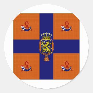 Standard Nederländerna royal Runt Klistermärke