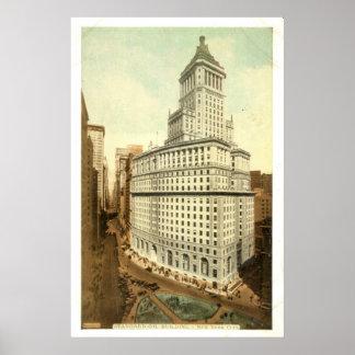 Standard oljebolag Byggnad, New York City, 1920 Poster