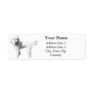 Standard pudeladressetiketter returadress etikett