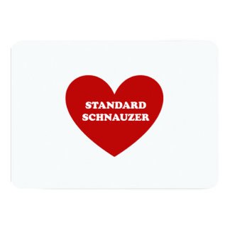 Standard Schnauzer 12,7 X 17,8 Cm Inbjudningskort