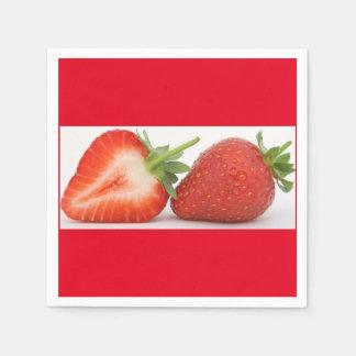 Standarda coctailservetter för jordgubbe papper servett