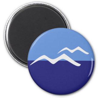 Standarda fiskmåsar/, rundamagnet för 5,7 cm magnet