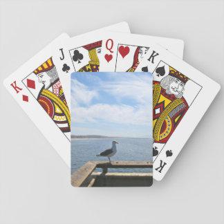 Standarda leka kort för scenisk fiskmås spelkort
