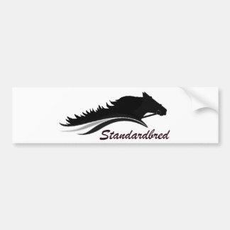 Standardbred häst bildekal