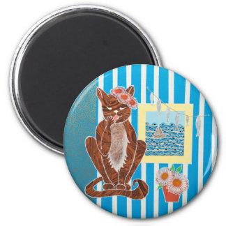 Standart rundamagnet för 5,7 cm med kattungen magnet