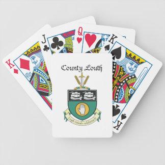 Ståndsmässiga Louth som leker kort Spelkort