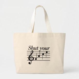 Stäng dina framsidaT-tröja och Gifts Tote Bag