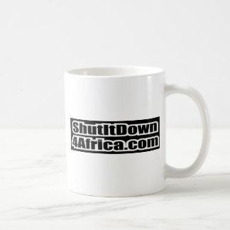 Stängt det besegra afrika 4 kaffemugg