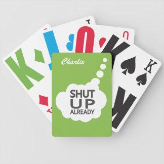 """""""Stängt upp"""" beställnings- färg & namn som leker Spelkort"""