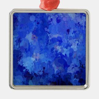 stänk av färg, blått julgransprydnad metall