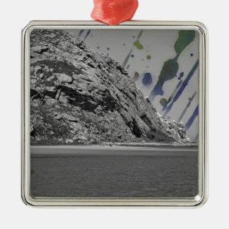 Stänk av färg julgransprydnad metall