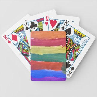 Stänk av färger spelkort