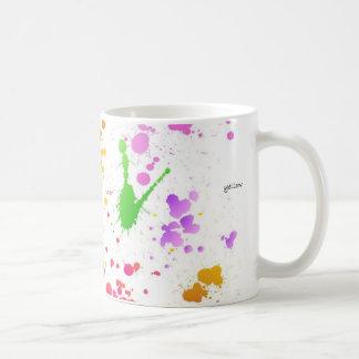Stänk målar, mjukt & stillar kaffemugg