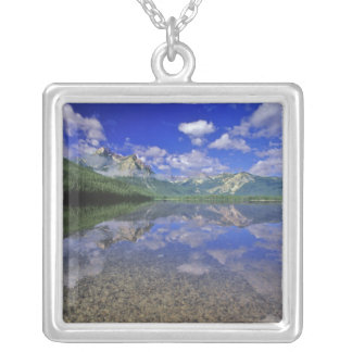 Stanley sjö i Sawtoothbergen av Idaho Silverpläterat Halsband