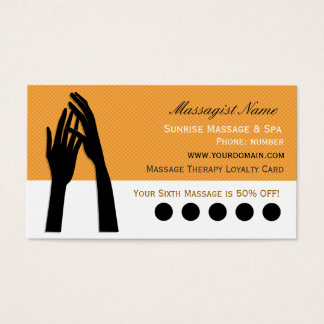 Stansmaskin för lojalitet för massageterapikund visitkort