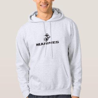 Staplad USMC-logotyp - svart Munkjacka