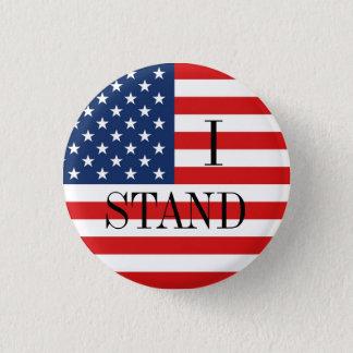 """""""STÅR JAG"""" den patriotiska amerikanska flaggan Mini Knapp Rund 3.2 Cm"""