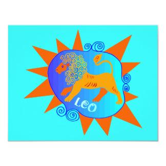 Starburst Leo 10,8 X 14 Cm Inbjudningskort