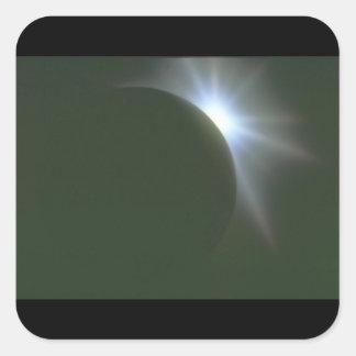 Starburst. (starburst; star_Spaceplatser Fyrkantigt Klistermärke