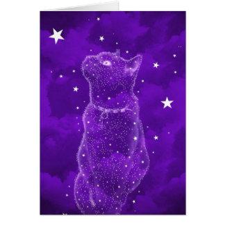 Stargazing katthälsningkort hälsningskort