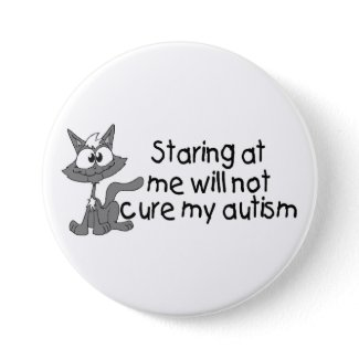 Stariing på mig ska inte bot min Autism (katten) button