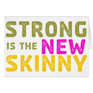 Stark är den nya smalan - skissa hälsningskort