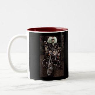 Stark biker Två-Tonad mugg
