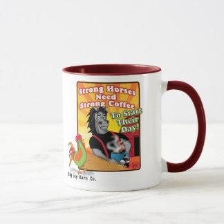 Stark hästkaffemugg mugg