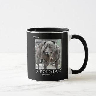 Stark hund skulle något liknande ett ord med dig mugg