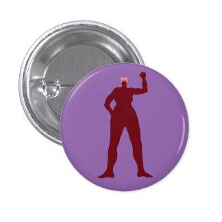Stark kvinna i en rosa hatt mini knapp rund 3.2 cm