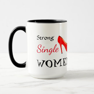 Stark singelkvinnamugg mugg