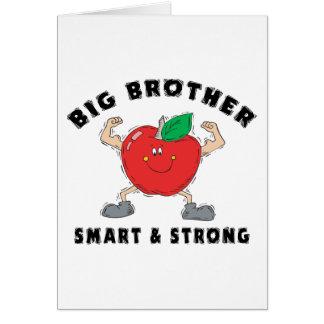 Stark storebror som är smart & hälsningskort