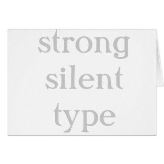 stark tyst typ hälsningskort