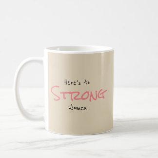 Starka kvinnor kaffemugg