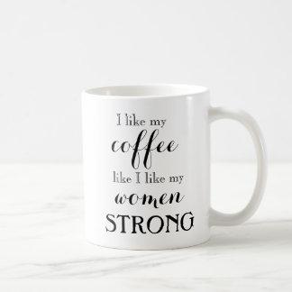 Starka kvinnor, stark kaffemugg