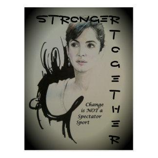 Starkare ändra tillsammans är inte en åskådar- vykort