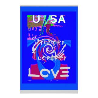 Starkare tillsammans ande för Hillary USA Brevpapper
