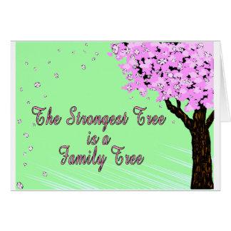 Starkast stamträd hälsningskort