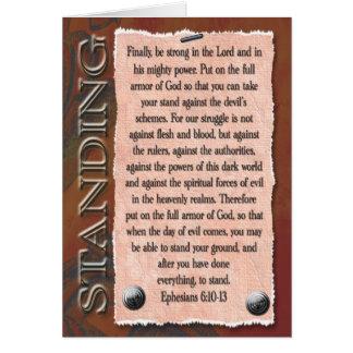 Starkt i lorden hälsningskort
