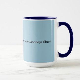 Starkt kaffe och Måndagar kort Mugg