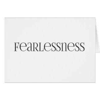 starkt kraftigt oförskräckt för fearlessness hälsningskort