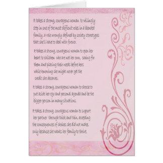 Starkt kvinnahälsningkort hälsningskort