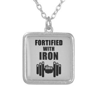 Stärkt med järn silverpläterat halsband