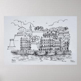 Stärkt port av Bastia, Corsica, frankrike Poster