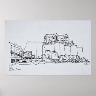 Stärkt stad av Calvi | Corsica, frankrike Poster