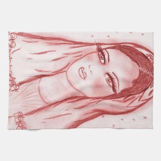 Starlight Mary - i rött Kökshandduk