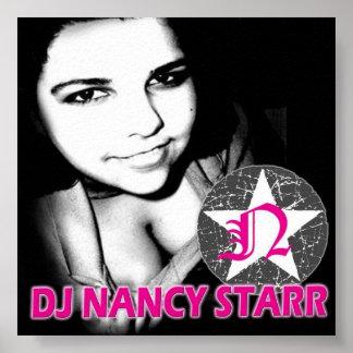 STARR-AFFISCH FÖR DJ NANCY